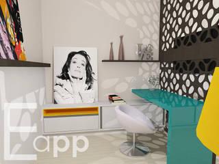 Quarto de Adolescente:   por Estúdio Criativo Arquitetura e Interiores,Moderno
