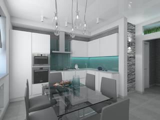 Cocinas de estilo  por архитектор-дизайнер Алтоцкий Михаил (Altotskiy Mikhail), Minimalista