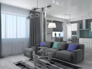 Livings de estilo  por архитектор-дизайнер Алтоцкий Михаил (Altotskiy Mikhail), Minimalista