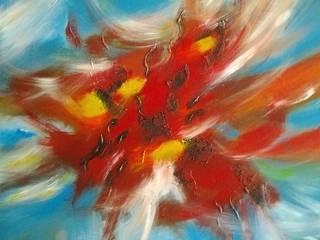 ENVOLEES LYRIQUES par ANVAL Artiste Peintre Moderne