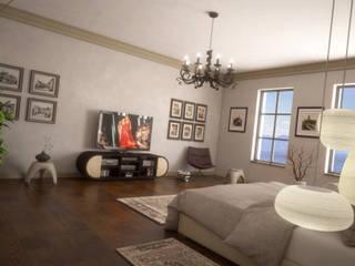 Bedroom G&C : Camera da letto in stile in stile Moderno di Ivan Rivoltella