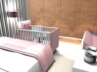 ANA LEITE - INTERIOR DESIGN STUDIO Chambre d'enfant classique Rose