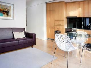 Edifício habitacional: Salas de estar  por Alves Dias arquitetos,Eclético