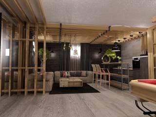 Industrial style gym by Студия дизайна Натали Хованской Industrial
