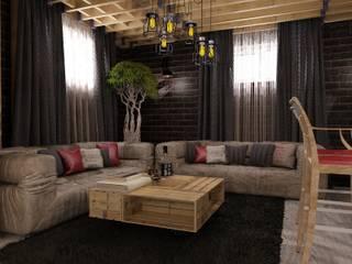 Студия дизайна Натали Хованской Industrial style gym Solid Wood Beige