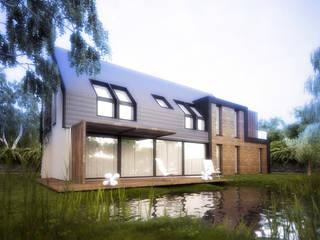 Casas de estilo moderno de Majchrzak Pracownia Projektowa Moderno