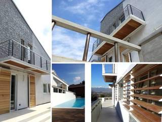casa privata Piscina moderna di fabio licciardi architetto Moderno Alluminio / Zinco