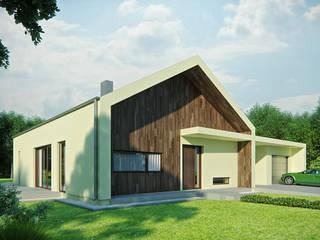 Projekty domów - House 14 Majchrzak Pracownia Projektowa Nowoczesne domy