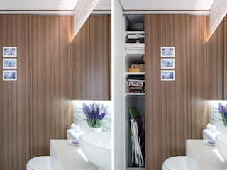 homify Minimalist style bathroom MDF Wood effect