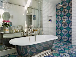 Victorian Terrace House, South-West London Drummonds Bathrooms 浴室 磁磚