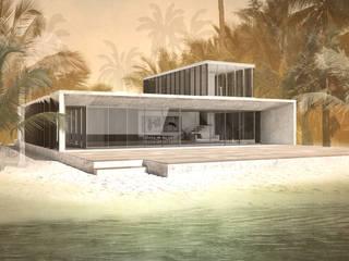Casa no Mussulo: Terraços  por Gustavo Guimarães