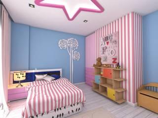 Murat Aksel Architecture Chambre d'enfant moderne Bois Rose