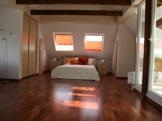 Minimalist Yatak Odası falk-raum-design-systeme Minimalist