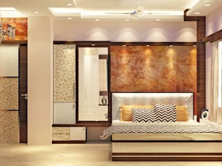 Room 2 bed view Modern style bedroom by Creazione Interiors Modern
