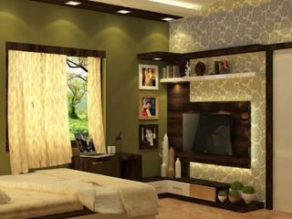 Room 5 tv view:  Bedroom by Creazione Interiors