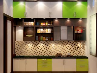 Modularkitchen Modern kitchen by Creazione Interiors Modern