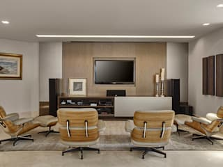 Salas multimedia modernas de Isabela Canaan Arquitetos e Associados Moderno