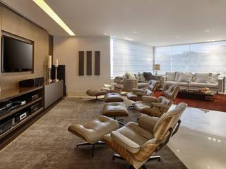 Salas multimedia de estilo  por Isabela Canaan Arquitetos e Associados, Moderno