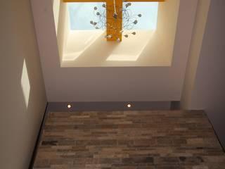 Casa San Ángel: Pasillos y recibidores de estilo  por ODICSA