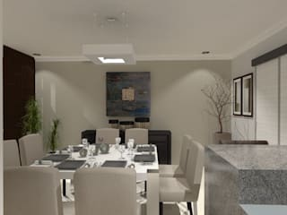 Modern dining room by AurEa 34 -Arquitectura tu Espacio- Modern
