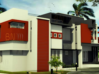Residence of Mr. Shoukath at Perinthalmanna BN Architects Modern houses