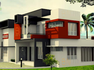 BN Architects Rumah Modern Batu Bata Orange