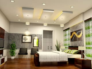 Residence of Mr. Shoukath at Perinthalmanna Modern style bedroom by BN Architects Modern