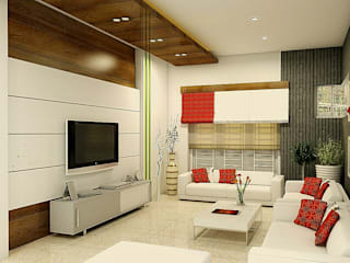 Living Area:  Living room by BN Architects