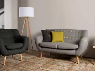Sixties 3zits sofa en fauteuil - Floris van Gelder: modern  door Floris van Gelder, Modern