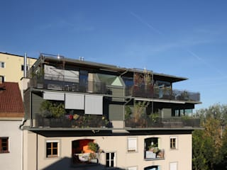 Aufstockung Wohnhaus Moderne Häuser von U1architektur Modern