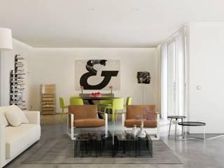 Salones de estilo moderno de makasa Moderno