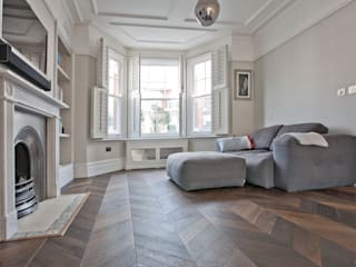 Richmond Full House Refurbishment A1 Lofts and Extensions Minimalist living room