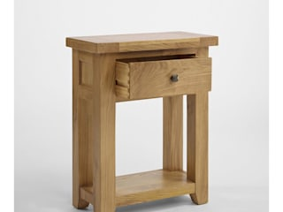 Bonsoni Duvall Oak Small One Drawer Console Table - Thick Oak tops, completing the beautiful country farmhouse look:   by Bonsoni.com,