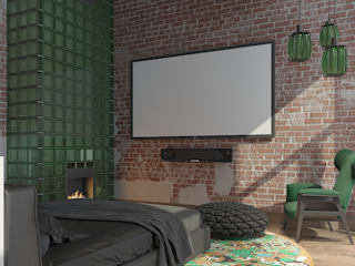 Industrial style bedroom by FEDOROVICH Interior Industrial