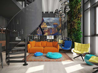 Industrial style living room by FEDOROVICH Interior Industrial
