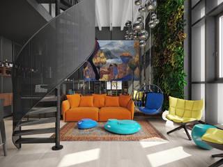 Industriale Wohnzimmer von FEDOROVICH Interior Industrial