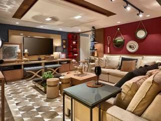 Decora Lider Rio de Janeiro - Espaço Home Theater Salas de estar modernas por Lider Interiores Moderno