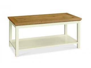 Bonsoni Sherbourne Two Tone Coffee Table With Shelf:   by Bonsoni.com,