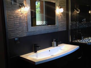 Salle d'eau contemporaine Salle de bain moderne par Emilie Granato Architecture d'intérieur Moderne