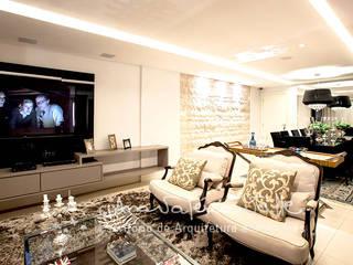 Projeto Anual Design - Apartamento Park Sul: Salas de estar  por Ana Valeria Valle ,Moderno