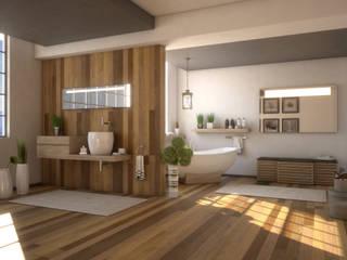 Bathroom G&C: Bagno in stile in stile Moderno di Ivan Rivoltella