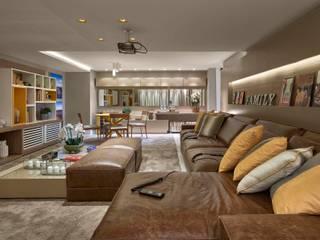 Decora Lider Rio de Janeiro - Home Theater Salas de estar modernas por Lider Interiores Moderno
