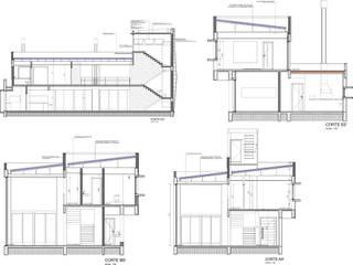 Casas de estilo  de Super StudioB, Moderno