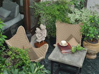 Apartment monica khanna designs Balconies, verandas & terraces Furniture