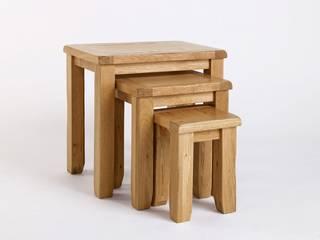 Bonsoni Wallsend Reclaimed Oak Nest of Tables - Hand Built Furniture Using High-Grade Oak:   by Bonsoni.com,