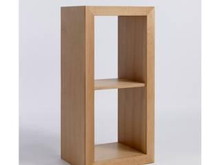 Bonsoni Sherborne Oak Cube Two Shelf Unit - Made of a High Quality Grade of Oak:   by Bonsoni.com,