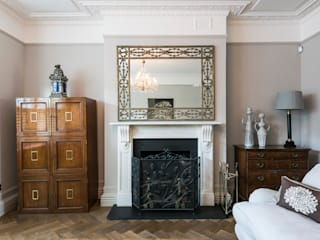 Full renovation on Trinity Road, London Livings de estilo moderno de Grand Design London Ltd Moderno
