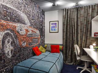 ДОМ В СЯРЬГАХ, 315 М2: Детские комнаты в . Автор – Юдин и Новиков Дизайн-студия