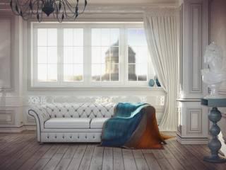 Квартира в стиле Неоклассика Гостиные в эклектичном стиле от Kakoyan Design Эклектичный