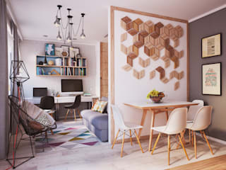 Salas de estilo minimalista por Polygon arch&des
